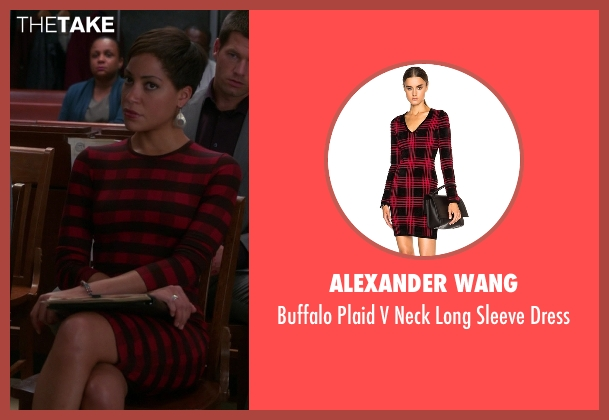 Alexander Wang red dress from The Good Wife seen with Lucca Quinn  (Cush Jumbo)
