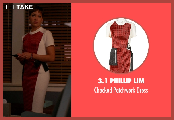 3.1 Phillip Lim red dress from The Good Wife seen with Lucca Quinn  (Cush Jumbo)