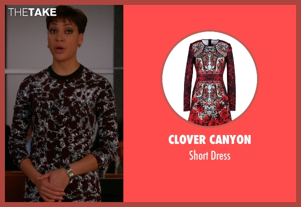 Clover Canyon red dress from The Good Wife seen with Lucca Quinn  (Cush Jumbo)