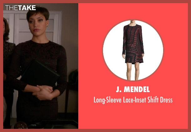 J. Mendel red dress from The Good Wife seen with Lucca Quinn  (Cush Jumbo)