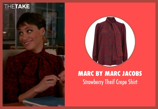 Marc By Marc Jacobs red shirt from The Good Wife seen with Lucca Quinn  (Cush Jumbo)
