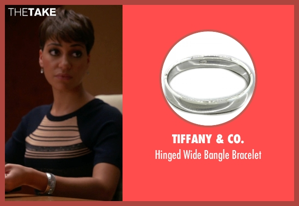 Tiffany & Co. silver bracelet from The Good Wife seen with Lucca Quinn  (Cush Jumbo)