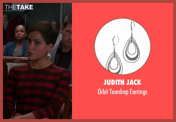 Judith Jack silver earrings from The Good Wife seen with Lucca Quinn  (Cush Jumbo)
