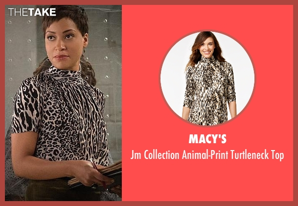 Macy's white top from The Good Wife seen with Lucca Quinn  (Cush Jumbo)