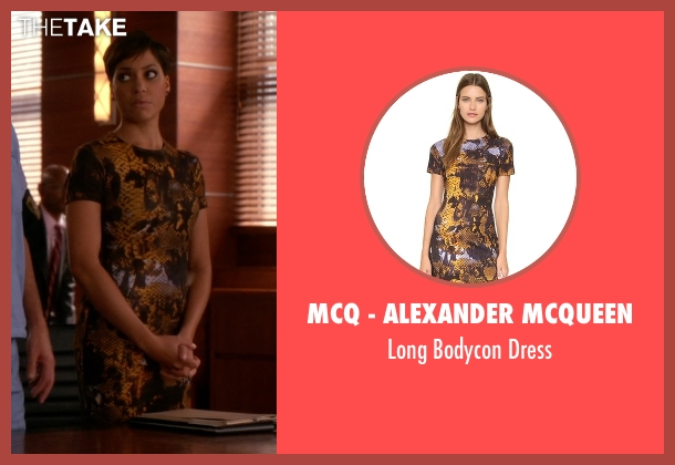 McQ - Alexander McQueen yellow dress from The Good Wife seen with Lucca Quinn  (Cush Jumbo)