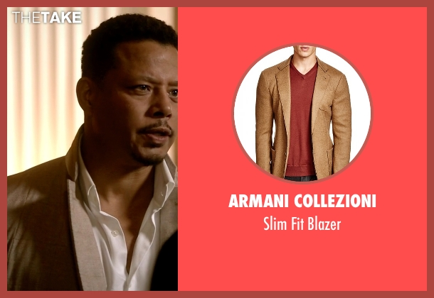 Armani Collezioni beige blazer from Empire seen with Lucious Lyon (Terrence Howard )