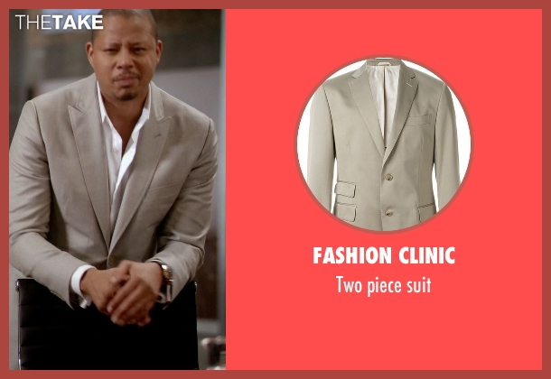 Fashion Clinic beige suit from Empire seen with Lucious Lyon (Terrence Howard )