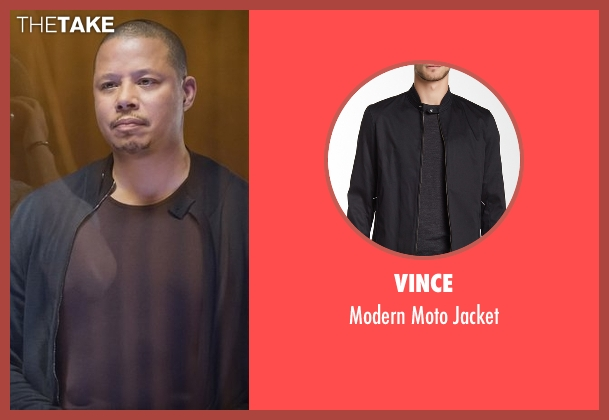 Vince black jacket from Empire seen with Lucious Lyon (Terrence Howard )
