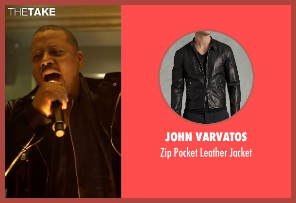 John Varvatos black jacket from Empire seen with Lucious Lyon (Terrence Howard )