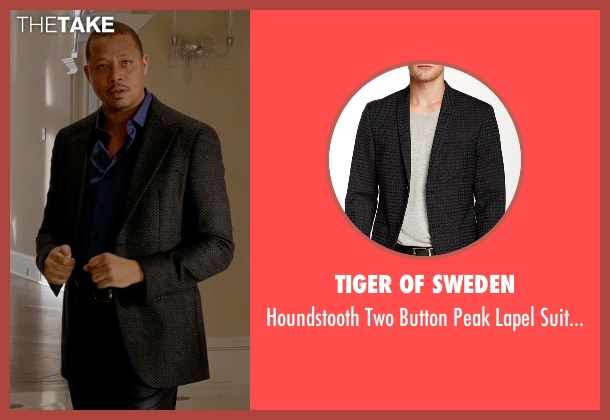 Tiger of Sweden black jacket from Empire seen with Lucious Lyon (Terrence Howard )