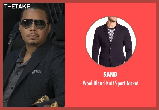 Sand  black jacket from Empire seen with Lucious Lyon (Terrence Howard )