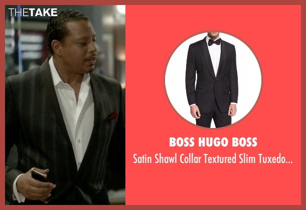 Boss Hugo Boss  black jacket from Empire seen with Lucious Lyon (Terrence Howard )