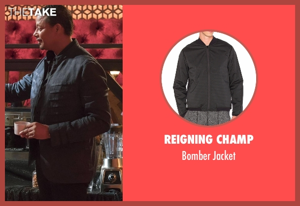 Reigning Champ black jacket from Empire seen with Lucious Lyon (Terrence Howard )