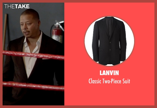 Lanvin black suit from Empire seen with Lucious Lyon (Terrence Howard )