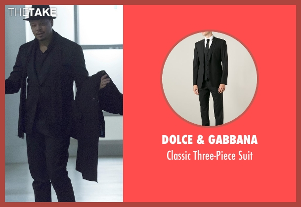 Dolce & Gabbana black suit from Empire seen with Lucious Lyon (Terrence Howard )