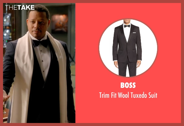 Boss black suit from Empire seen with Lucious Lyon (Terrence Howard )