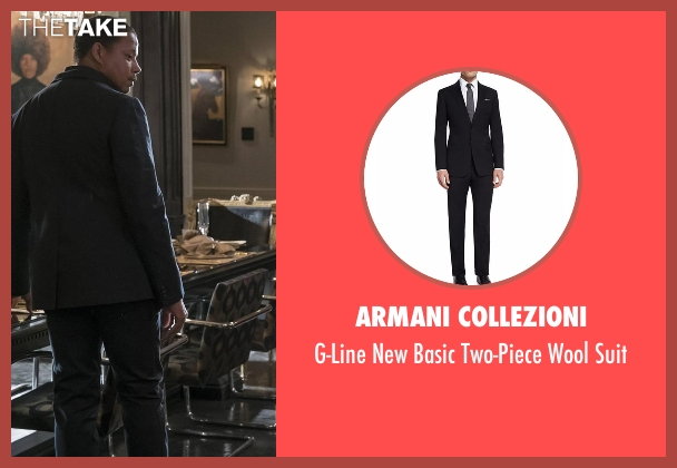 Armani Collezioni black suit from Empire seen with Lucious Lyon (Terrence Howard )