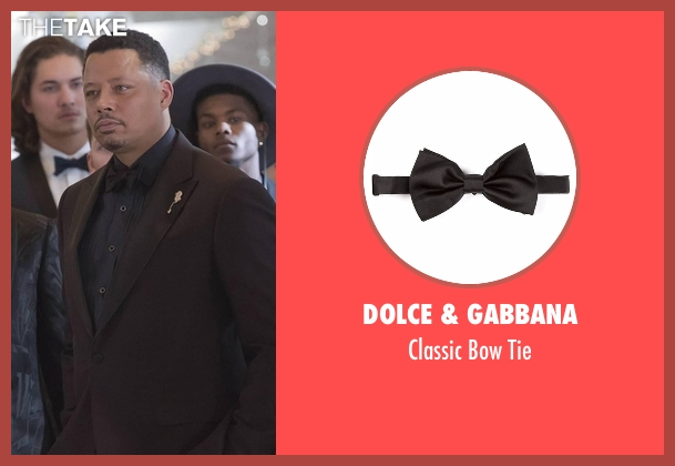 Dolce & Gabbana black tie from Empire seen with Lucious Lyon (Terrence Howard )