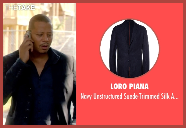 Loro Piana blue blazer from Empire seen with Lucious Lyon (Terrence Howard )