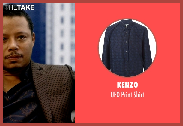Kenzo blue shirt from Empire seen with Lucious Lyon (Terrence Howard )