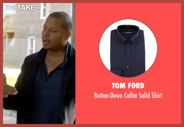 Tom Ford	 blue shirt from Empire seen with Lucious Lyon (Terrence Howard )