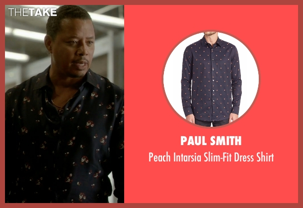 Paul Smith blue shirt from Empire seen with Lucious Lyon (Terrence Howard )