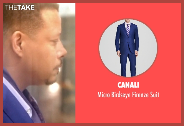 Canali blue suit from Empire seen with Lucious Lyon (Terrence Howard )