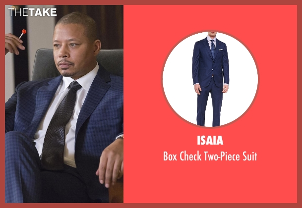 Isaia blue suit from Empire seen with Lucious Lyon (Terrence Howard )