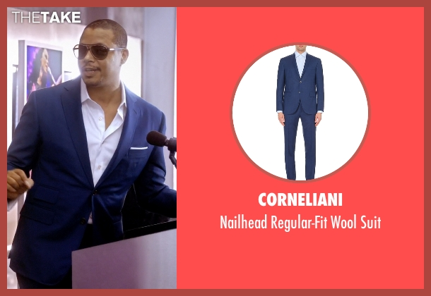 Corneliani blue suit from Empire seen with Lucious Lyon (Terrence Howard )