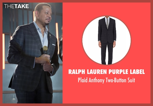 Ralph Lauren Purple Label blue suit from Empire seen with Lucious Lyon (Terrence Howard )