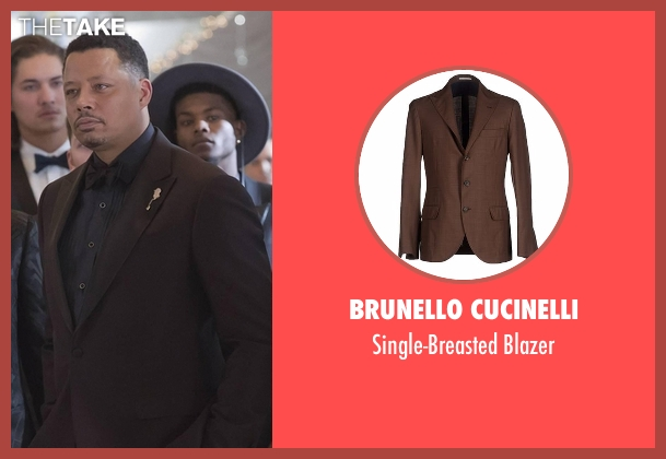 Brunello Cucinelli brown blazer from Empire seen with Lucious Lyon (Terrence Howard )