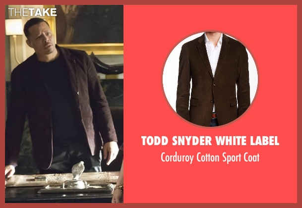 Todd Snyder White Label brown coat from Empire seen with Lucious Lyon (Terrence Howard )