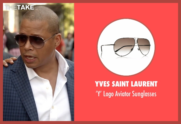Yves Saint Laurent  gold sunglasses from Empire seen with Lucious Lyon (Terrence Howard )