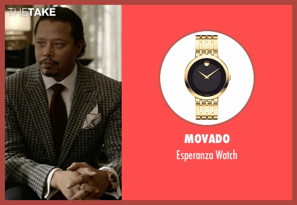 Movado gold watch from Empire seen with Lucious Lyon (Terrence Howard )