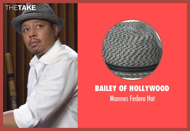 Bailey of Hollywood gray hat from Empire seen with Lucious Lyon (Terrence Howard )