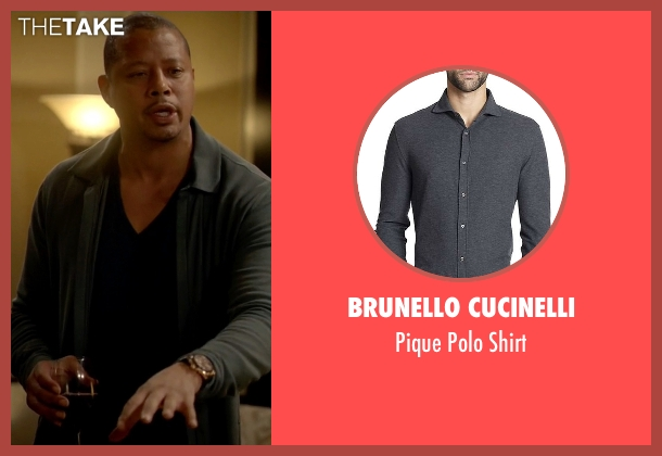 Brunello Cucinelli gray shirt from Empire seen with Lucious Lyon (Terrence Howard )