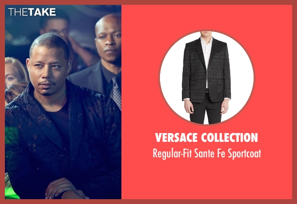 Versace Collection gray sportcoat from Empire seen with Lucious Lyon (Terrence Howard )