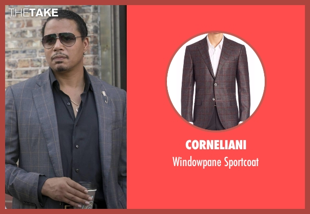 Corneliani gray sportcoat from Empire seen with Lucious Lyon (Terrence Howard )