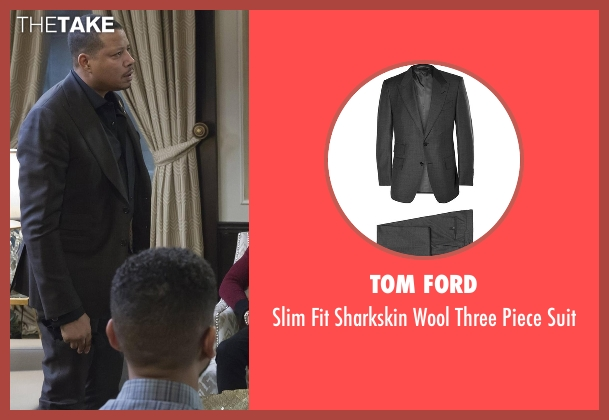 Tom Ford  gray suit from Empire seen with Lucious Lyon (Terrence Howard )