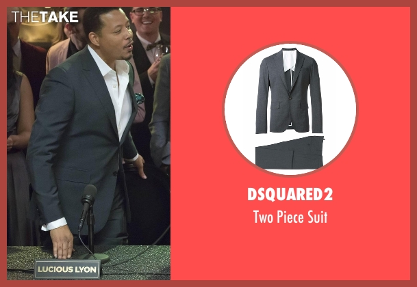 Dsquared2 gray suit from Empire seen with Lucious Lyon (Terrence Howard )