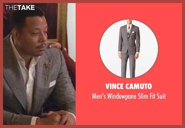Vince Camuto gray suit from Empire seen with Lucious Lyon (Terrence Howard )