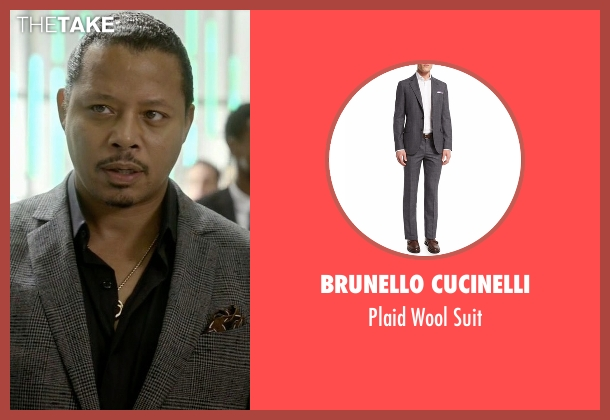 Brunello Cucinelli gray suit from Empire seen with Lucious Lyon (Terrence Howard )