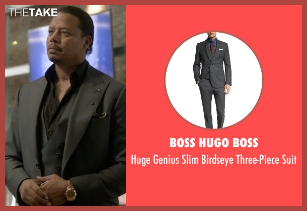 Boss Hugo Boss gray suit from Empire seen with Lucious Lyon (Terrence Howard )