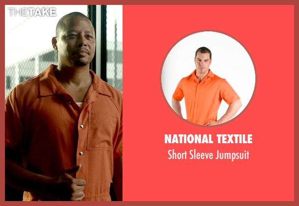 National Textile orange jumpsuit from Empire seen with Lucious Lyon (Terrence Howard )
