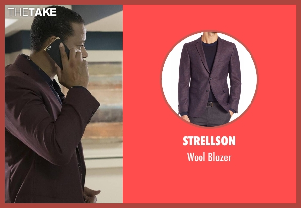 Strellson purple blazer from Empire seen with Lucious Lyon (Terrence Howard )