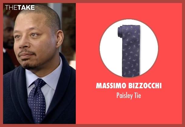 Massimo Bizzocchi purple tie from Empire seen with Lucious Lyon (Terrence Howard )