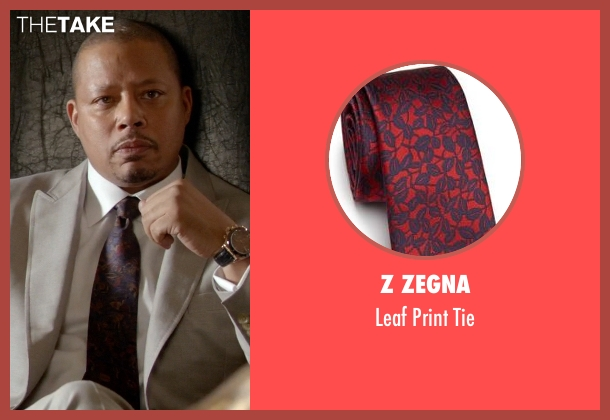 Z Zegna red tie from Empire seen with Lucious Lyon (Terrence Howard )