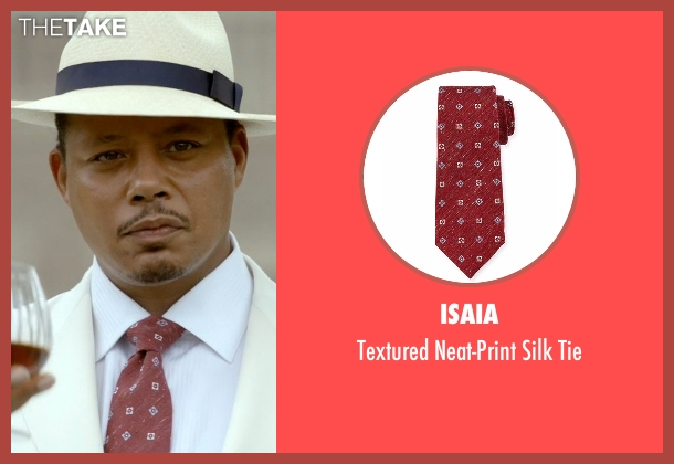 Isaia red tie from Empire seen with Lucious Lyon (Terrence Howard )