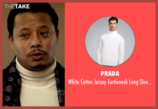 Prada white shirt from Empire seen with Lucious Lyon (Terrence Howard )