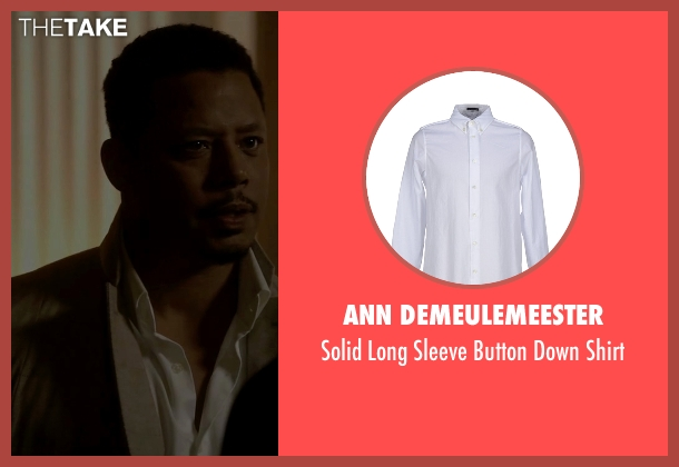 Ann Demeulemeester white shirt from Empire seen with Lucious Lyon (Terrence Howard )